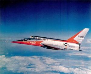 F-107A in flight