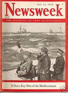 Mussolini at sea