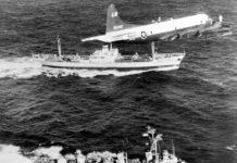 Un P-3A durante il blocco navale americano