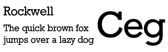 Font Rockwell