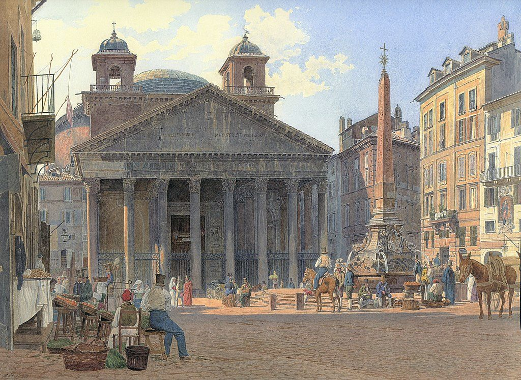 Pantheon a Roma, acquerello