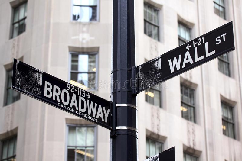 Broadway e Wall Street