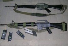 Armi sequestrate dagli israeliani